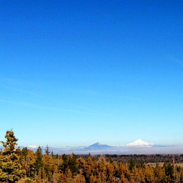 Friday Sky Day no. 2 - Black Butte and Mt. Jefferson