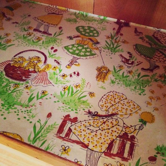 Vintage Holly Hobby shelf paper