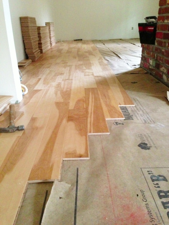 maple floor installation