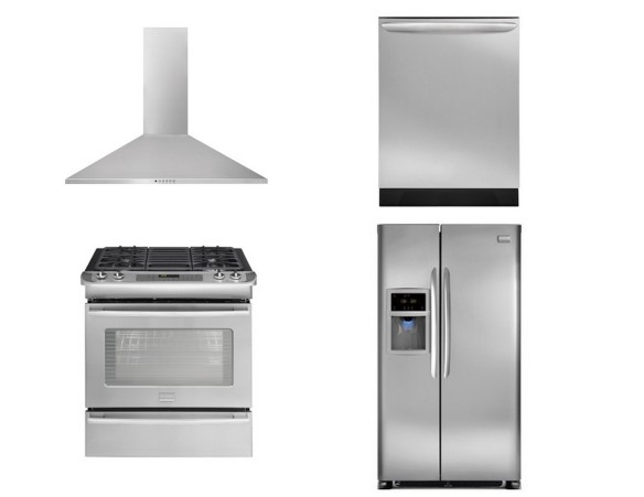 Stainless Frigidaire appliances