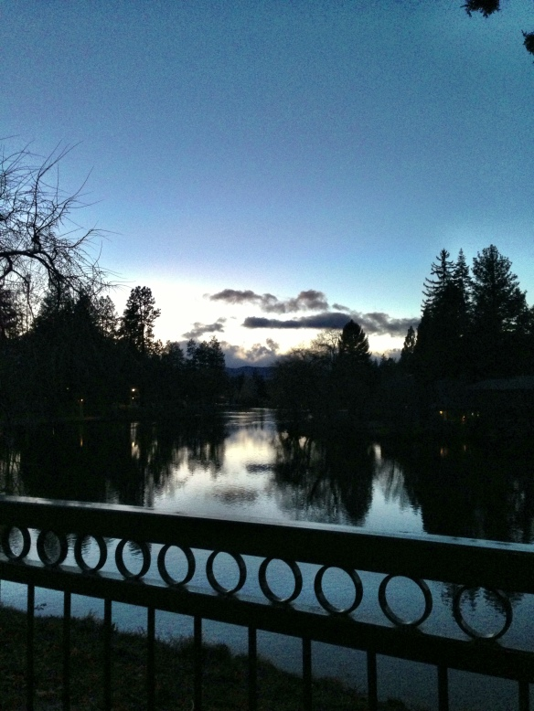 Deschutes at dusk.