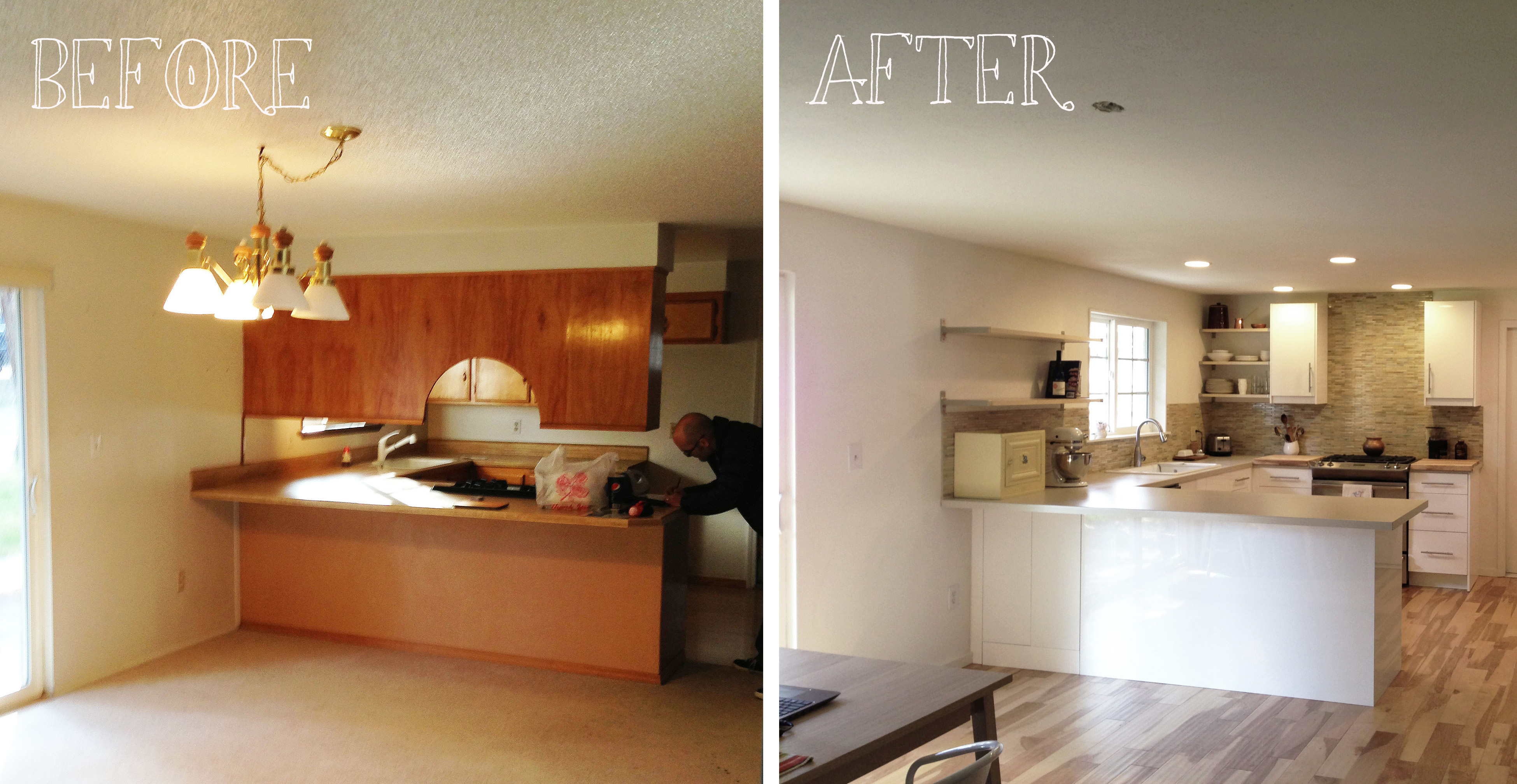 Kitchen before after this bendable life for Kitchen remodel before after