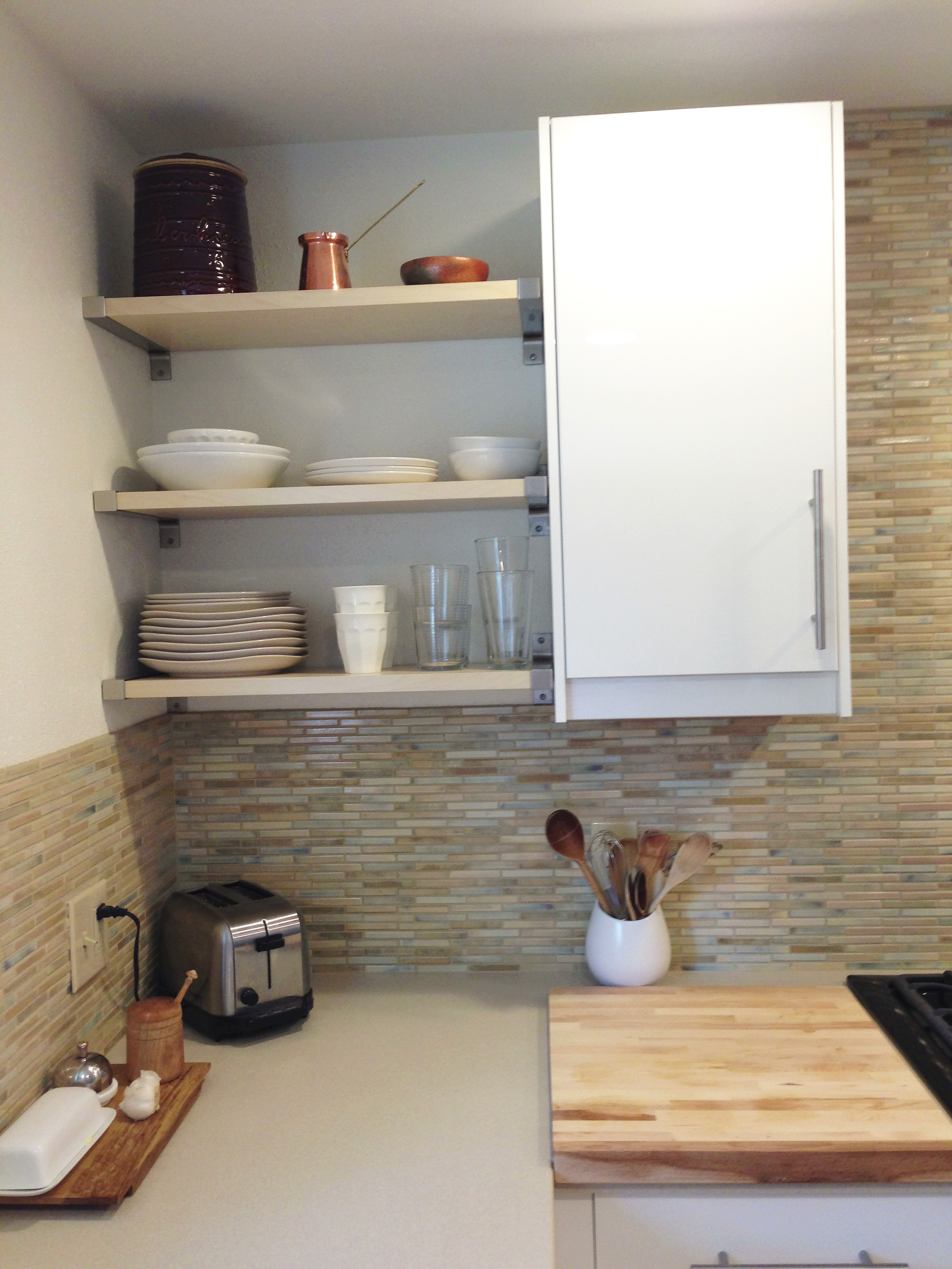 Corner Kitchen Shelves Interiors Design