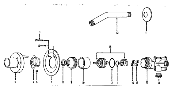 shower valve diagram